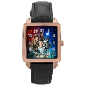 Stranger Things TV Series #13181 Watch Rose Gold Leather Stainless Steel Wristwatch