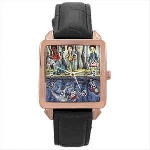 Stranger Things TV Series #13184 Watch Rose Gold Leather Stainless Steel Wristwatch