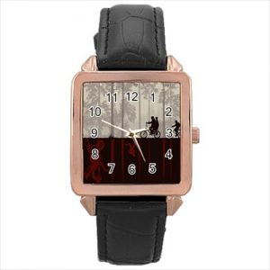 Stranger Things TV Series #13185 Watch Rose Gold Leather Stainless Steel Wristwatch